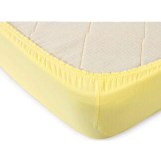Простынь на резинке трикотажная Лимон