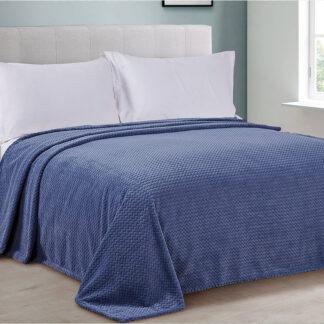 Покрывало на кровать плюшевое