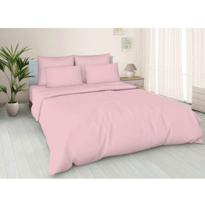 Простынь на резинке Светло-розовая